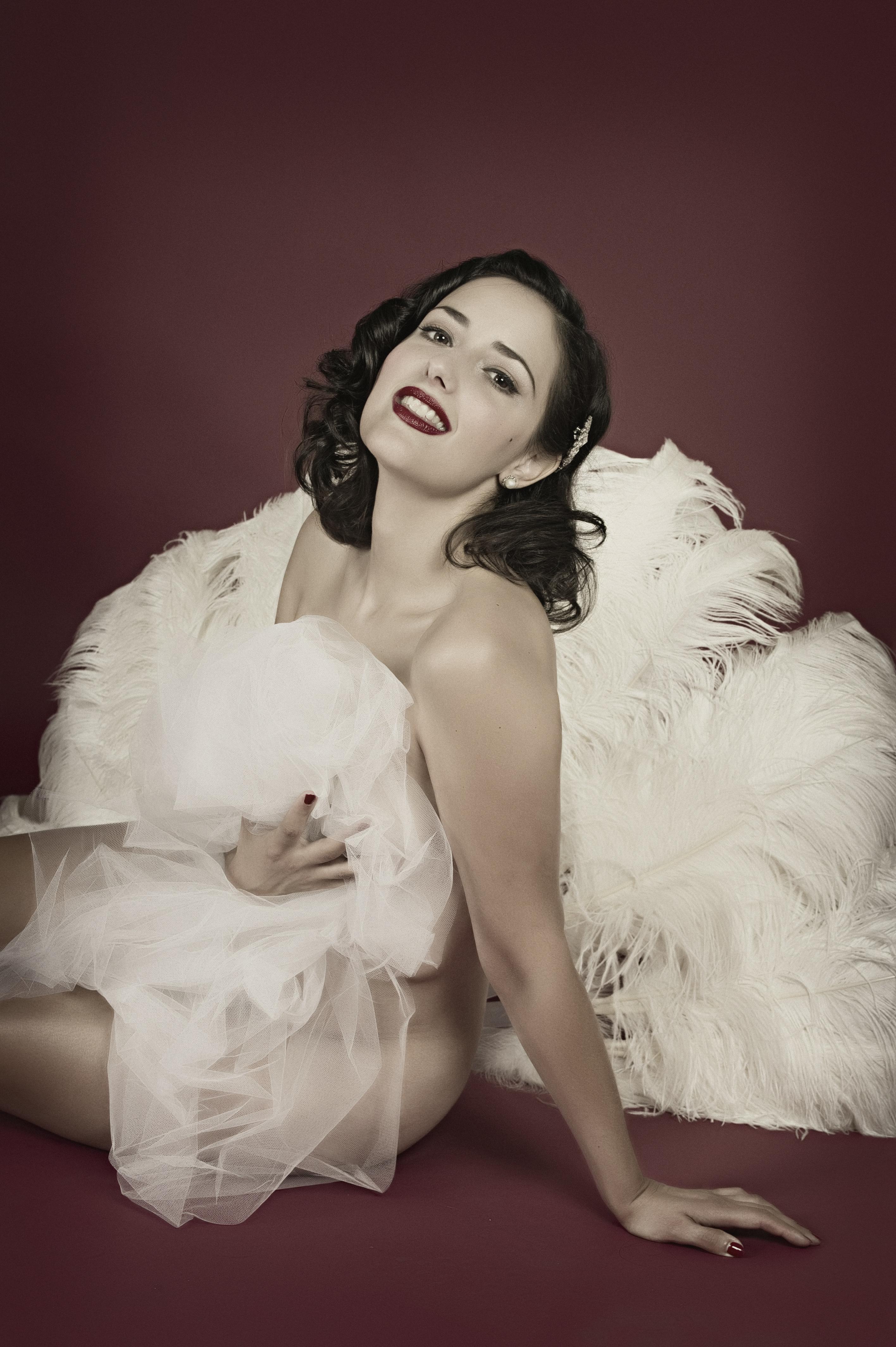 © Piergiorgio Pirrone - LaPresse 04-10-2011 Roma Ritratti esclusivi di Emma Nitti - Grace Hall , la regina del burlesque italiano