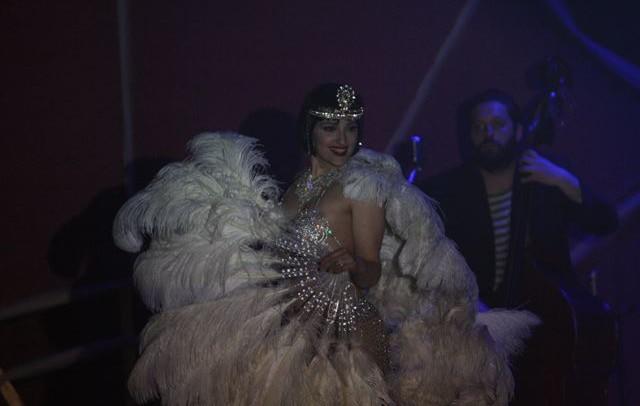 Grace Hall nello spettacolo Cabaret Burlesque direzione artistica di Grace Hall.1